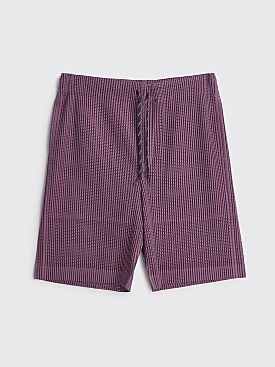 Homme Plissé Issey Miyake Pleated Drawstring Mesh Shorts Purple