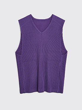 Homme Plissé Issey Miyake Pleated Vest Purple