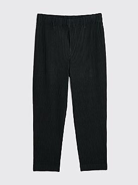 Homme Plissé Issey Miyake Pleated Straight Pants Black