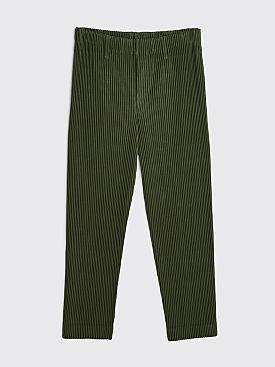 Homme Plissé Issey Miyake Pleated Straight Pants Cedar Leaf Green