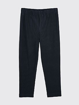 Homme Plissé Issey Miyake Pleated Straight Pants Navy