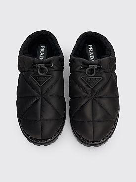 Prada Nylon Slippers Black