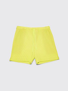Homme Plissé Issey Miyake Pleated Shorts Lime