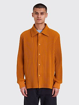 Homme Plissé Issey Miyake Pleated Jacket Burnt Orange