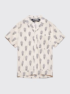 Jacquemus Short Sleeve Shirt Printed Off White
