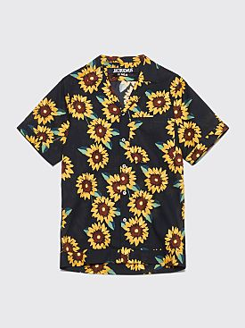 Jacquemus Short Sleeve Shirt Printed Navy / Yellow