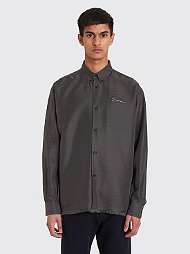 Jacquemus Silk Shirt Black / White