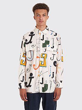 Jacquemus Felix Multi J Print Shirt White