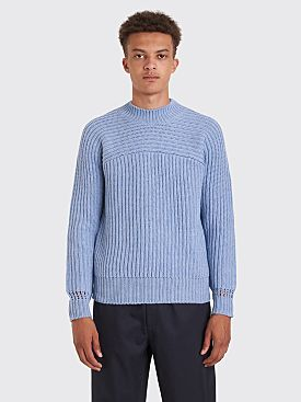 Jacquemus Louis Knitted Sweater Light Blue