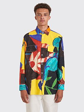 Jacquemus Felix Paint Print Shirt Multi Color