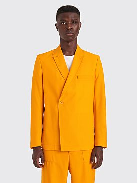 Jacquemus Moulin Crossed Suit Jacket Orange