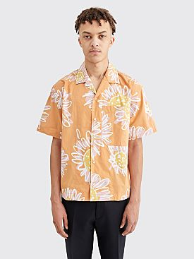 Jacquemus Jean Flower Print Shirt Orange