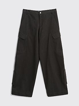 Jacquemus Le Pantalon Quadri Dark Grey