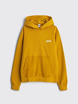 JAM Hooded Sweatshirt Corduroy Pocket Corn Yellow
