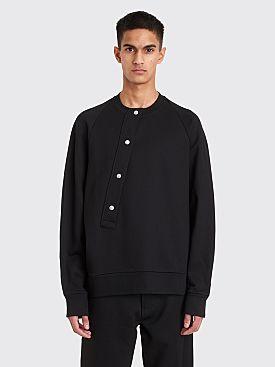 Jil Sander Asymmetrical Button Sweatshirt Black