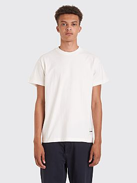 Jil Sander Short Sleeve T-shirts 3-Pack White