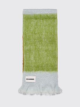 Jil Sander Mohair Scarf Tricolor Green