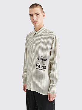 Jil Sander Tin Printed Logo Shirt Stripe Off White
