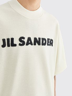 Jil Sander Knitted Logo Wool T-shirt White
