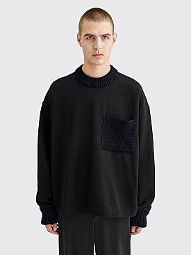 Jil Sander Jersey Knit Sweatshirt Black