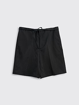 Jil Sander Argo Satin Shorts Black