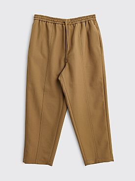 Jil Sander Alem Cropped Wool Pants Dark Beige