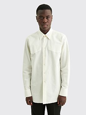 Jil Sander Cotton Embroidery Shirt Natural