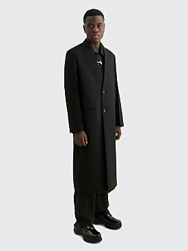 Jil Sander Sharp Wool Serge Coat Black