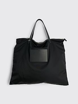 Jil Sander Large Simple Strap Zip Tote Bag Black