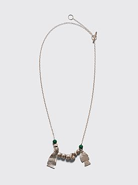 Jil Sander Hammered Necklace Bright Green