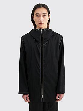 Jil Sander Hooded Technical Jacket Black