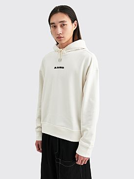 Jil Sander+ Logo Hooded Sweatshirt White