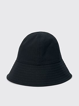 Jil Sander+ Herringbone Cotton Hat Black
