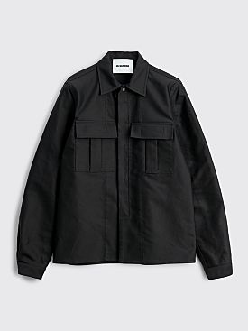 Jil Sander Cotton Poplin Pocket Shirt Black
