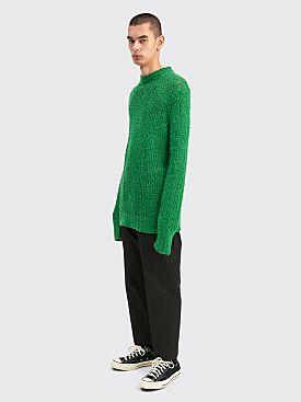 Jil Sander Knitted Linen Sweater Medium Green
