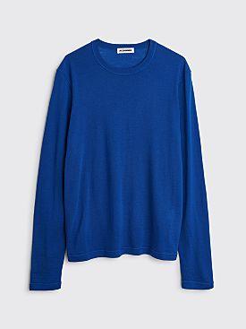 Jil Sander Knitted Long Sleeve T-shirt Bright Blue