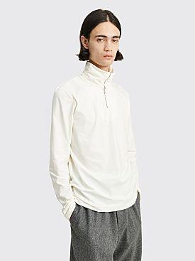 Jil Sander+ Long Sleeve Zipped T-shirt Natural