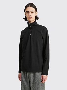 Jil Sander+ Long Sleeve Zipped T-shirt Black