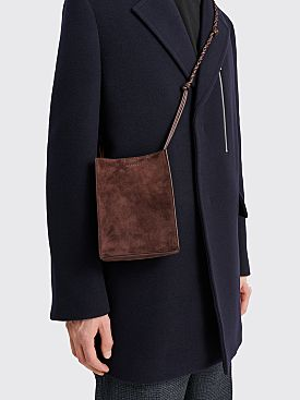 Jil Sander Tangle Bag Small Dark Brown