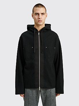 Jil Sander Knitted Zipper Sweater Black