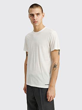 Jil Sander+ T-shirt CN SS Knitted White