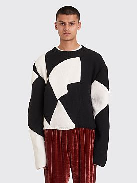 Judy Turner Crush Sweater Black / White