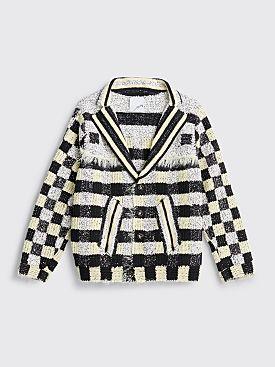 Judy Turner Wim Hand Crochet Blazer Black / Limoncello