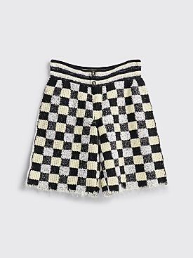 Judy Turner Dean Hand Crochet Shorts Black / Limoncello