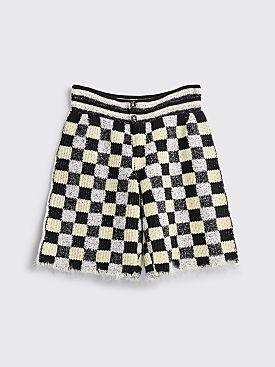 Judy Turner Dean Hand Crochet Shorts Black / Limoncello