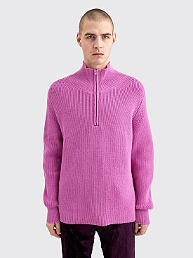 Judy Turner Laurence Half Zip Turtleneck Sweater Pink