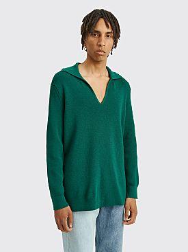 Judy Turner Leo Merino Wool Sweater Emerald
