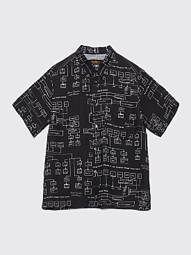 Junior Executive With Pleasure Schematics Shirt Black