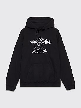 Junior Executive x Public Release World Hooded Sweatshirt Black