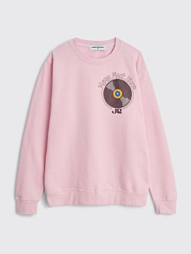 Junior Executive x Horse Meat Disco Label Sweatshirt Baby Pink